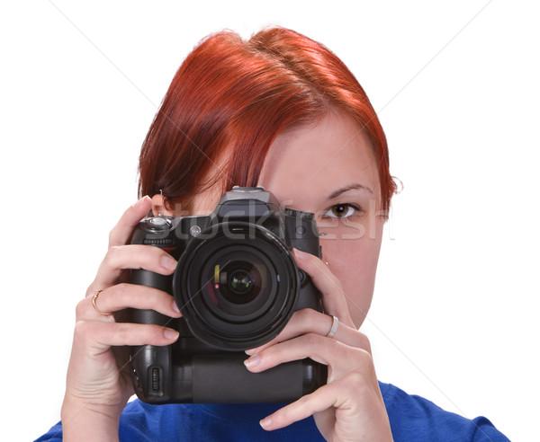 Teen girl photographer Stock photo © RazvanPhotography