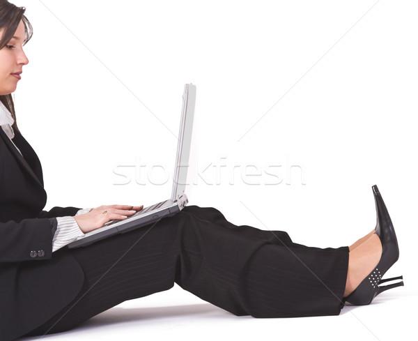 Woman wotking on laptop Stock photo © RazvanPhotography