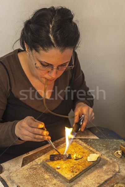 Takı kadın el feneri Metal Stok fotoğraf © RazvanPhotography