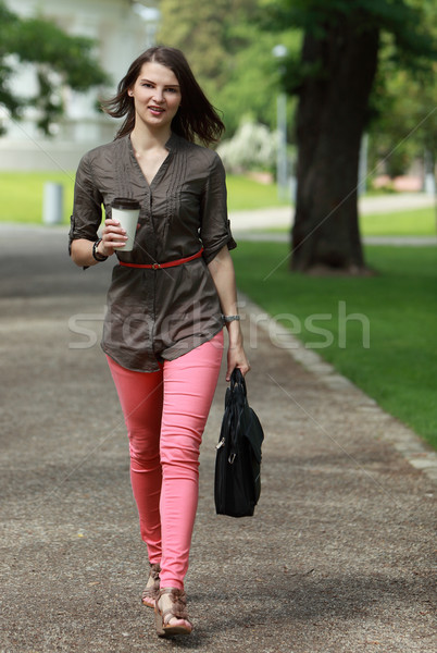 Young Woman in a Hurry Stock photo © RazvanPhotography
