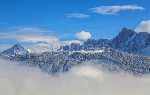 Nubes alto montanas plan francés alpes Foto stock © RazvanPhotography