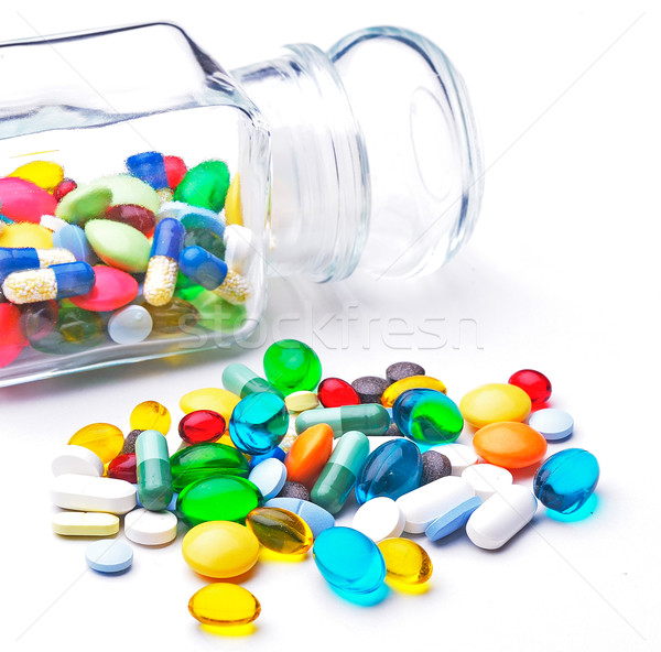Colorful tablets with capsules Stock photo © razvanphotos