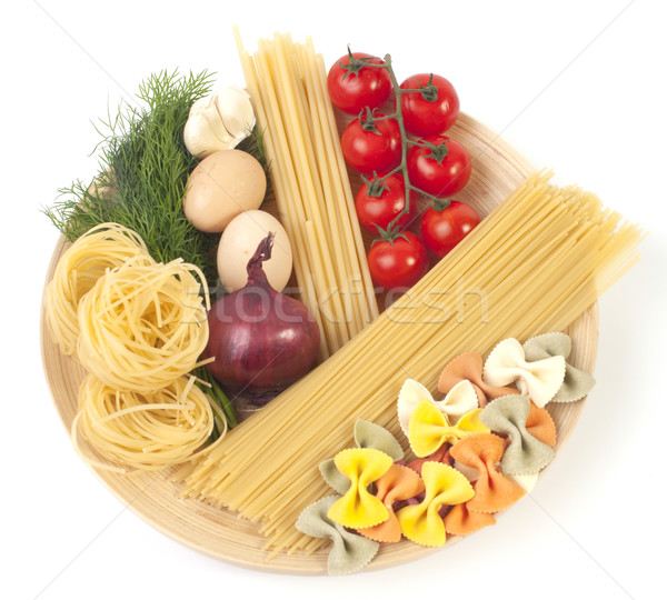 italian pasta with vegetables and eggs Stock photo © razvanphotos