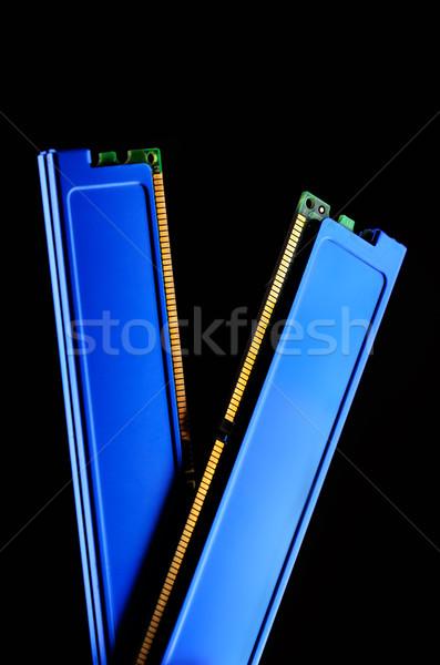 Fotoğraf koç bellek modül arka plan yeşil Stok fotoğraf © razvanphotos