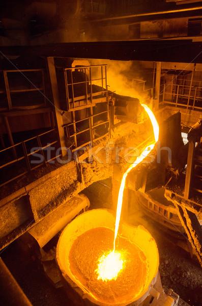 Płynnych żelaza wewnątrz roślin pociągów technologii Zdjęcia stock © razvanphotos