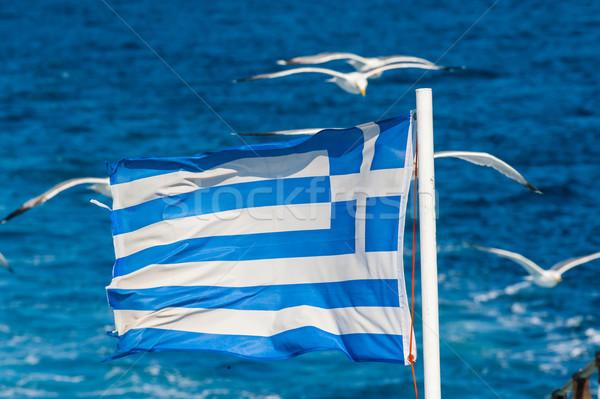National flag of Greece Stock photo © razvanphotos
