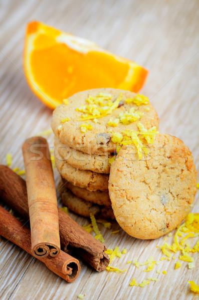 Fresco saboroso biscoitos canela chocolate fundo Foto stock © razvanphotos