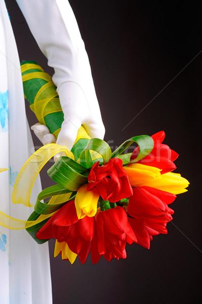 Beautiful wedding bouquet in bride's hands Stock photo © razvanphotos