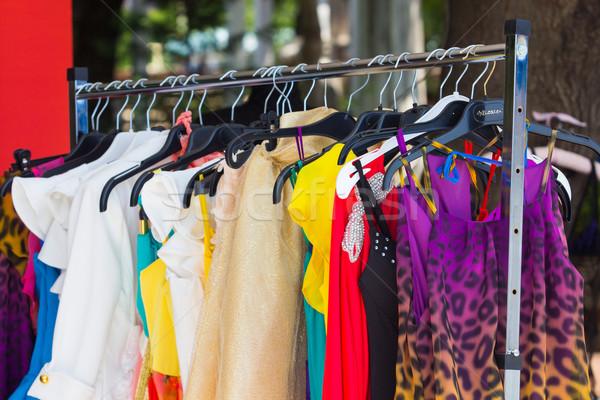 fashion clothing on hangers at the show Stock photo © razvanphotos