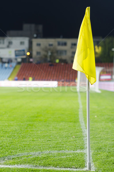 Corner flag on an soccer field Stock photo © razvanphotos