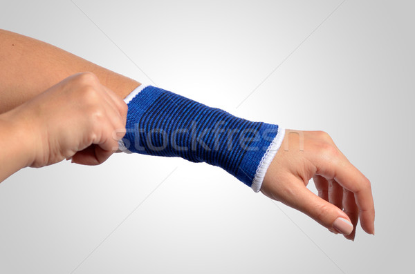 hand with a orthopedic wrist brace Stock photo © razvanphotos