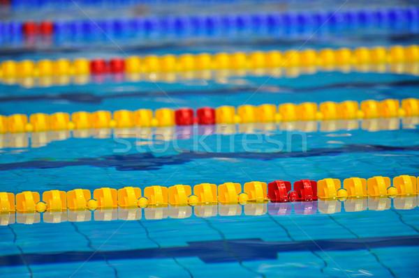 Bent úszómedence részlet víz fém nyár Stock fotó © razvanphotos