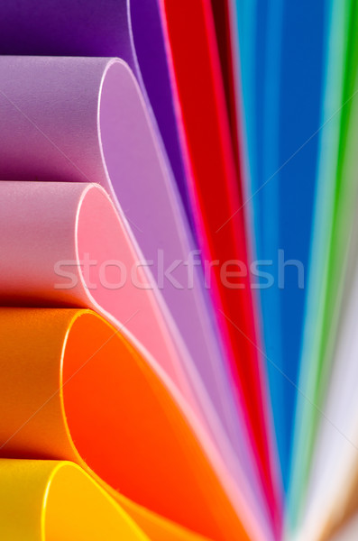 Color paper variety Stock photo © razvanphotos