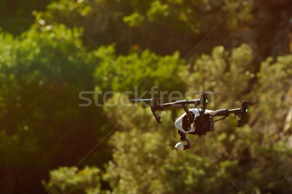 Uçan video fotoğraf mavi robot dijital Stok fotoğraf © razvanphotos
