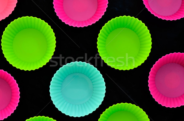 colorful muffins silicone cup Stock photo © razvanphotos
