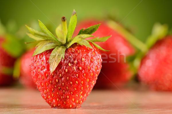 tasty strawberries Stock photo © razvanphotos
