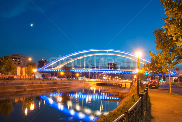 Stock photo: Basarab bridge in the night, Bucharest, Romania