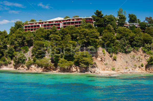 Tengerpart természetes tartalék tő Görögország kék Stock fotó © razvanphotos