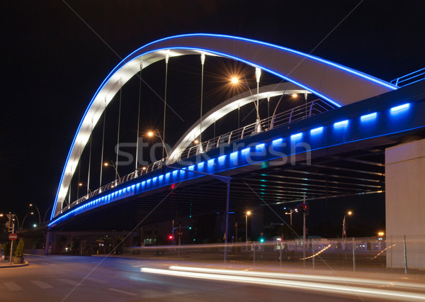 Basarab bridge in the night, Bucharest, Romania Stock photo © razvanphotos
