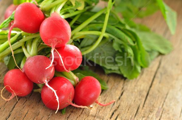garden radish on old wooden Stock photo © razvanphotos