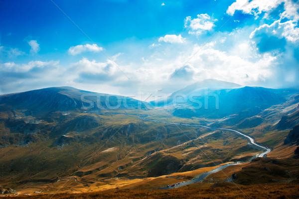 Altitude route Roumanie paysage voitures Europe Photo stock © razvanphotos