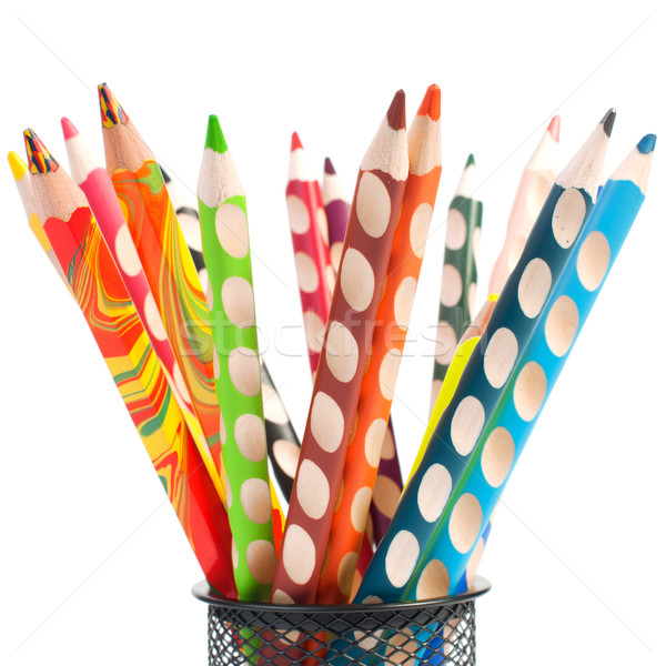 Group of colorful crayons Stock photo © razvanphotos