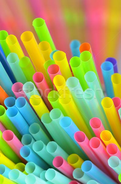 Colorful of straw Stock photo © razvanphotos