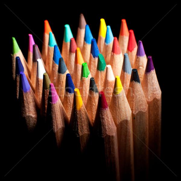 Top view of colored pencils Stock photo © razvanphotos