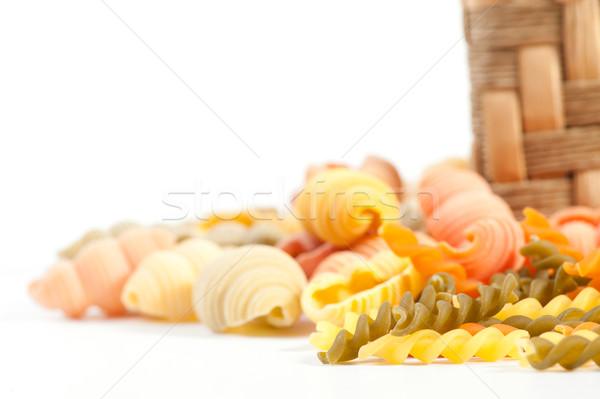 Diferente macarrão verde Óleo vermelho trigo Foto stock © razvanphotos