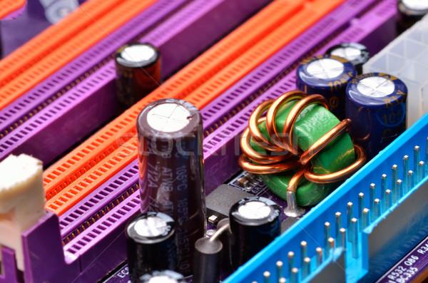 コンピュータ マザーボード クローズアップ デザイン 背景 通信 ストックフォト © razvanphotos
