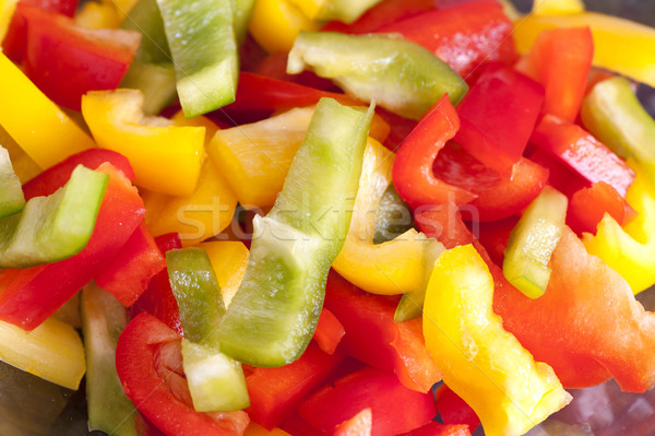 Colored Peppers mixed & chopped up Stock photo © razvanphotos