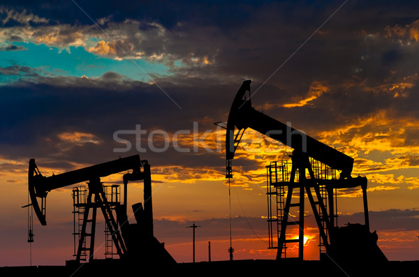 Oil pumps. Oil industry equipment. Stock photo © razvanphotos