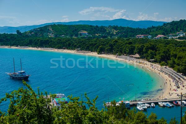 Koukounaries beach, natural reserve pin, Greece Stock photo © razvanphotos