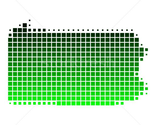 Térkép Pennsylvania zöld minta Amerika tér Stock fotó © rbiedermann