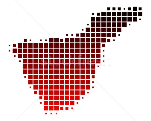 Harita tenerife kırmızı model kare örnek Stok fotoğraf © rbiedermann