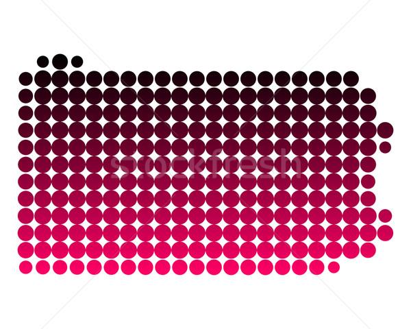 Mapa Pensilvania patrón rosa América círculo Foto stock © rbiedermann