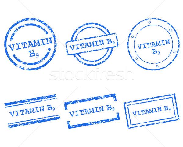 Vitamin B9 stamps Stock photo © rbiedermann