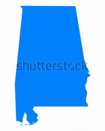 карта Алабама синий путешествия Америки США Сток-фото © rbiedermann
