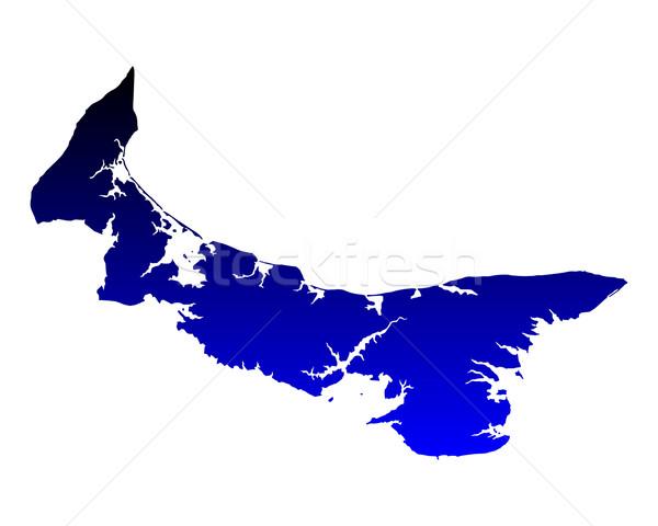 Mapa isla del príncipe eduardo azul isla vector aislado Foto stock © rbiedermann