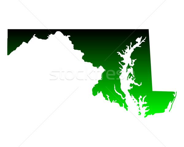 Mappa Maryland verde viaggio america USA Foto d'archivio © rbiedermann