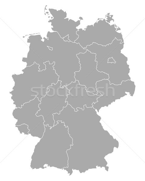 ストックフォト: 地図 · ドイツ · ベクトル · ベルリン · 孤立した · 実例