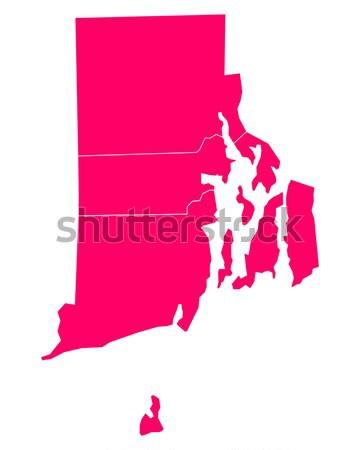 Carte Massachusetts Voyage Amérique pourpre isolé Photo stock © rbiedermann