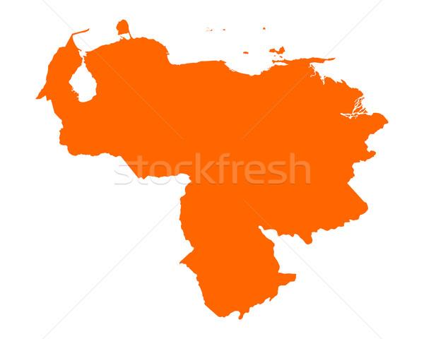 Kaart Venezuela vector geïsoleerd Stockfoto © rbiedermann