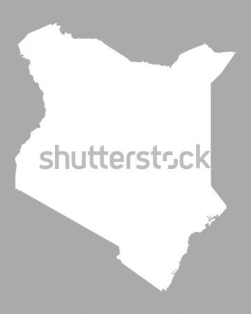 Térkép Kenya háttér vonal Stock fotó © rbiedermann