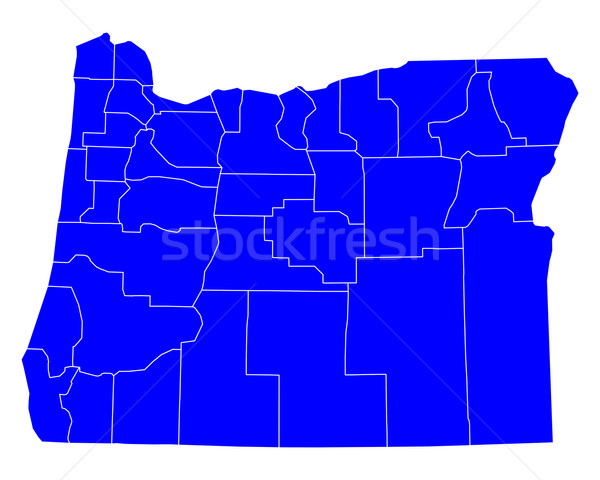 карта Орегон синий путешествия США изолированный Сток-фото © rbiedermann