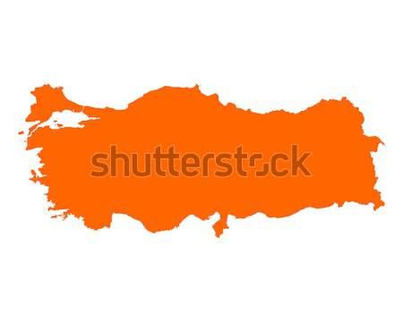 Térkép vektor izolált illusztráció földrajz Stock fotó © rbiedermann