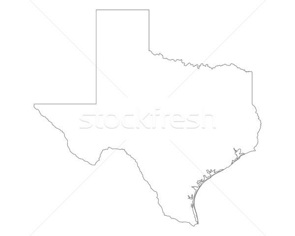 Térkép Texas háttér vonal USA illusztráció Stock fotó © rbiedermann