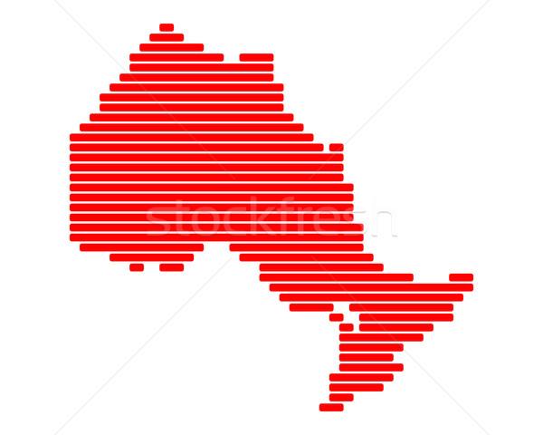 Mappa ontario rosso line linee punto Foto d'archivio © rbiedermann