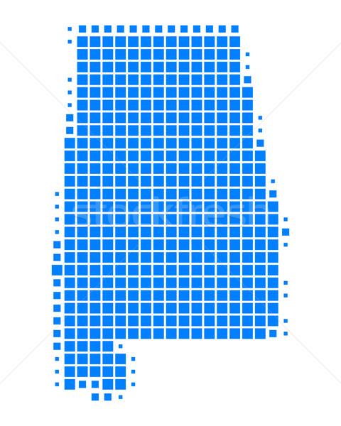 Harita Alabama mavi model Amerika kare Stok fotoğraf © rbiedermann