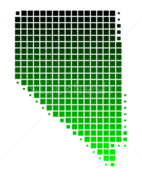 Harita Nevada yeşil model Amerika kare Stok fotoğraf © rbiedermann
